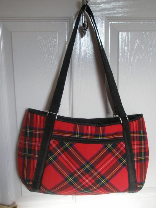Tartan bag front