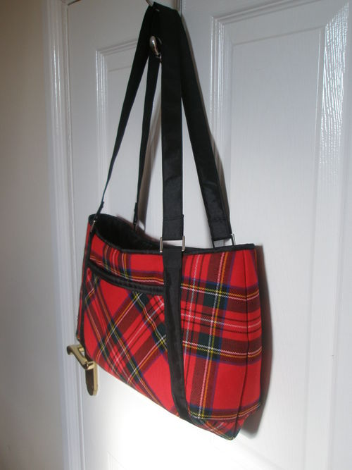 Tartan bag side