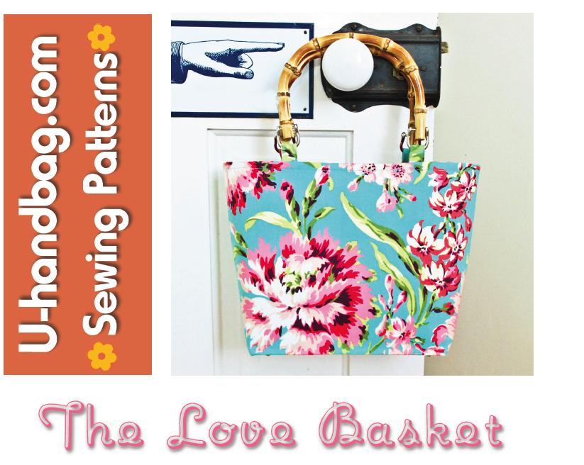 FREE bag purse pattern - The Love Basket - U-handblog