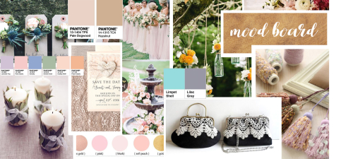Vintage wedding moodboard