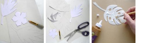 Wedding Monterra leaf sketches blog