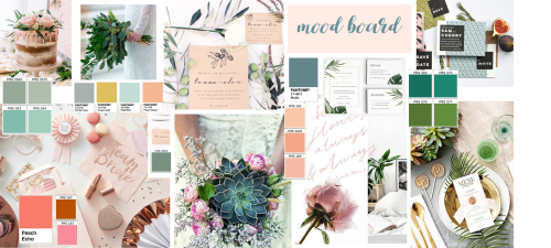 Contemporary Wedding Moodboard
